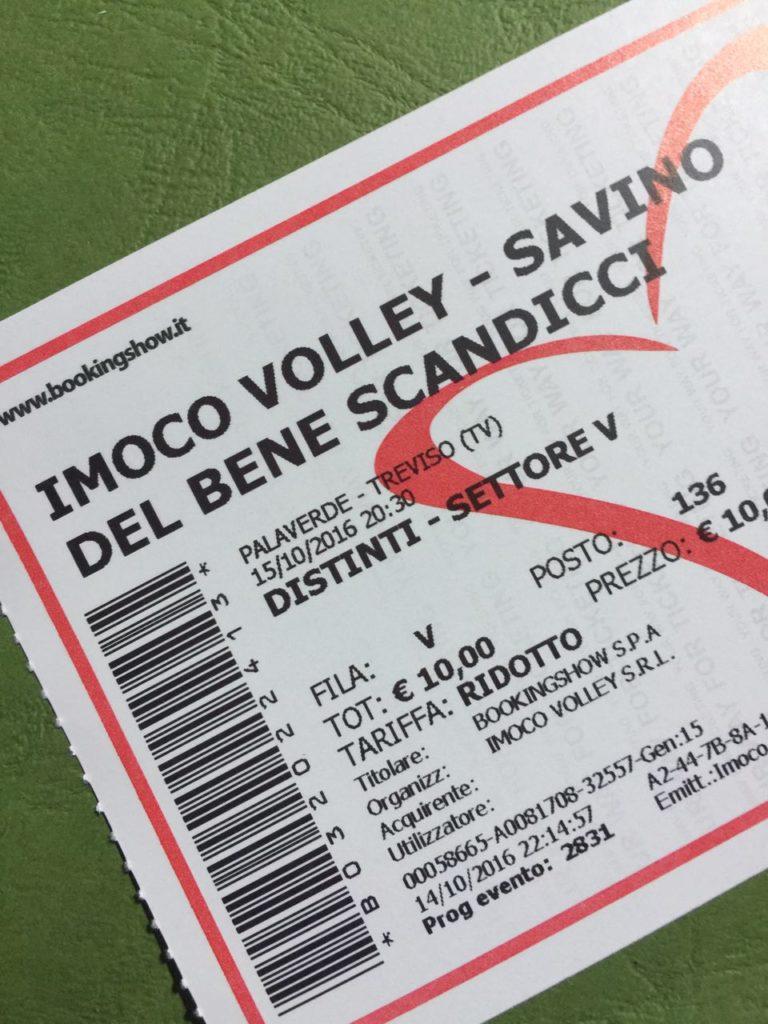 Il biglietto del match